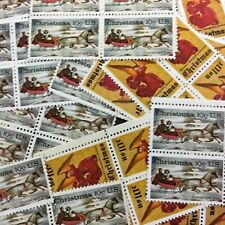 100 Colorful Christmas Stamps 1974. mint 10 cent stamps. Christmas Angel.