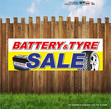 BATTERY AND TYRE SALE GARAGE PVC BANNERS OUTDOOR PRINTED BUSINESS SIGN VINYL