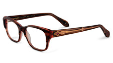 "LOREE RODKIN ""HALLE"" BRN/PINK 50/16/137 WOMEN EYEGLASSES BY SAMA MADE IN JAPAN"