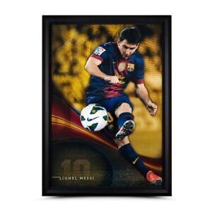 "Lionel Messi Signed Autographed 50X34 Framed Photo ""Flea Flicker"" Break-thru UDA"