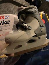 Kid's Ccm Tyke Expandable Ice Skates Gray Sz M 12,13,1 Youth Boys Girls Unisex