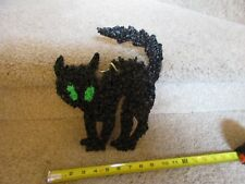 Vintage Melted Popcorn Plastic Decor Halloween Black Cat scared hiss bad luck