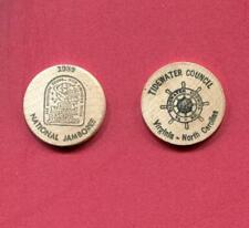 Wooden Nickle - 1989 National Scout Jamboree - Tidewater Council - VA NC -