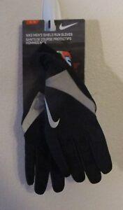NWT Nike Mens Shield Run Gloves XL Black/Silver MSRP$45