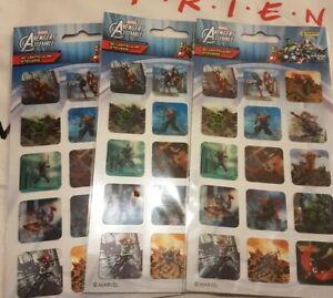 Marvel Avengers Assemble 3D Lenticular Stickers x 15 per pack.