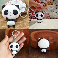Silicone Panda Cartoon Keychain Bag Pendant Key Ring Kawaii Gift Present Cute