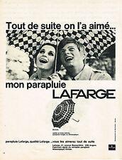 PUBLICITE ADVERTISING 044   1965   LAFARGE   parapluie
