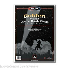 1 Case of 250 BCW Golden Age Comic Book Mylar Storage Bags Sleeves 4 mil