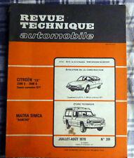 REVUE TECHNIQUE  AUTOMOBILE  MATRA SIMCA RANCHO