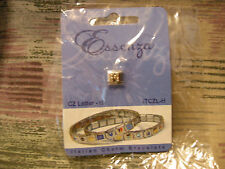 ESSENZA CZ LETTER  ITALIAN CHARM - LINKS TOGETHER MAKES A BRACELET - LETTER - H