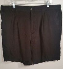 Mens Black Shorts Size 42 XXL AXIS LA Casual 100% Silk pleated