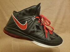Rare Nike Lebron VIII 8 PS Black Sport Red Miami Heat 441946-001 Men's Size 13