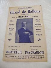 Partition Chand de Ballons Bérard Mortreuil Felix Chaudoir