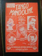 Partition Tango Mandoline Jacques Hélian Jo Privat Jo Moutet