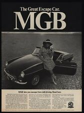 1968 MGB Convertible Sports Car - MKII - Pretty Woman - Great Escape VINTAGE AD