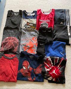 Lot of Boy's Clothes Size 10/12 Adidas Nike Air Jordan Star Wars