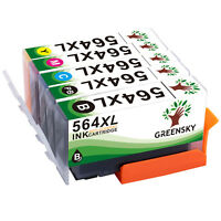 5PK New 564XL 564 XL Color Ink Cartridge +Chip For HP 564 Officejet 4620 Printer