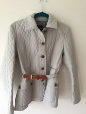 Max Mara Quilted Jacket, Stone Colour, Size 10 Fabulous!