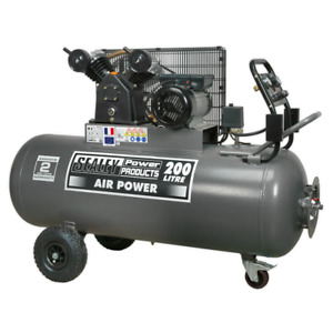 Sealey SAC3203B Air Compressor 200L Belt Drive 3hp with Front Control Panel