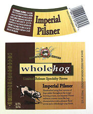 Stevens Point Brewery IMPERIAL PILSNER beer label WI 12oz Limited Release