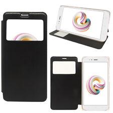 "Etui Housse View Case Flip Folio Leather Cover NOIR Xiaomi Mi A1/ Mi 5X 5.5"""