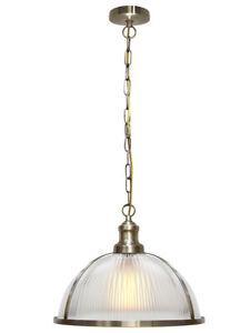 Modern Vintage Industrial Retro Loft Glass Ceiling Shade Pendant Light M0118