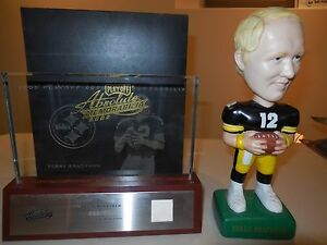 2003 playoff absolute memorabilia terry bradshaw etched glass and sam bobble hea