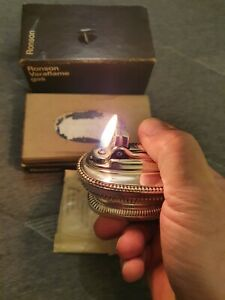 Silver plated table lighter by Ronson retro Georgian style BNIB Never used