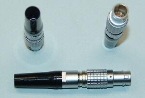 LEMO Größe 1B 1-Codierter Stecker 8 Pole FGG.1B.308 mit Knickschutz schwarz NOS