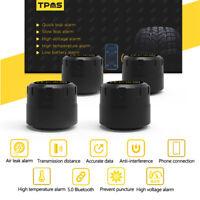 Bluetooth TPMS Car Auto Tire Pressure Monitoring System 4 External Sensors Set