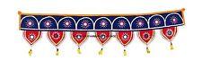 Indian Handicraft Vintage Ethnic Traditional Toran Door Valance Blue Red Velvet