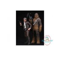 Star Wars 1/10 Han Solo & Chewbacca Ep VII ArtFX Statue Kotobukiya