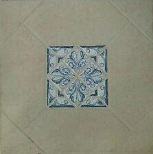 """NIB COBALT BLUE & BEIGE Ceramic Floor Tile 18"""" x 18"""" $1.50 Sq. Ft. 800 SQ. FT"""