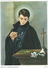 "Catholic Print Picture ST. GABRIEL PASSIONIST 7 1/2x10"" Ready to be framed"