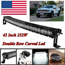 42 INCH 252W CURVED LED WORK LIGHT BAR SPOT OFF-ROAD 4WD SUV TRUCK DOUBLE ROW 44