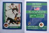 2015 SCA Bob Mason vancouver canucks goalie never issued produced #d/10 rare