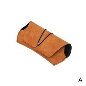 Soft Simple Women Glasses Case Portable Retro Sunglasses Eyewear Box Bag H0F8