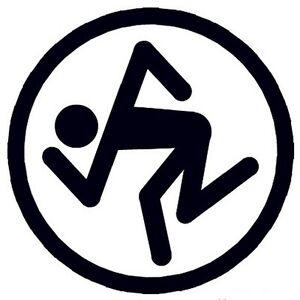 D.R.I Mosh Man Decal Logo Sticker for Guitar, Amp Cab, Wall, Window, Car, Laptop