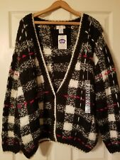 Vintage Protokol Chunky Cardigan 3 Button Sweater Mens Large New With Tags