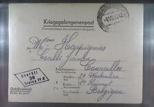 Camp Stalag IVC Wistritz 1942 POW Prisoner Belgium Kriegsgefangenenpost L30d