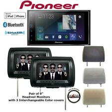 "Pioneer MVH-1400NEX 6.2"" Digital Multimedia Receiver + Two 9"" Headrest monitors"