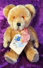 "VINTAGE TAGGED LEFRAY GOLD MOHAIR JOINTED COLLECTABLE TEDDY BEAR 13""1960 ENGLAND"