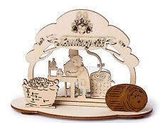 Windlicht Lautergold echt Erzgebirge Teelichthalter Brennerei Destille