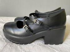 Koi Footwear Mary Jane Platform Black Box Heel 7 Worn Once