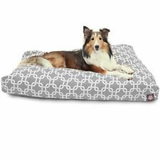 Majestic Pet Gray Links Large Rectangle Indoor Outdoor Pet Dog Bed With Remov.