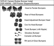 1970-1981 CHEVROLET CAMARO RUBBER STOPPER BUMPER KIT 20-PIECE KIT *BRAND NEW
