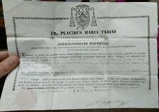1834 276) CERTIFICATO DI RELIQUIA CAPELLI DELLA VERGINE CROCE GESU' OSSA S. ANNA
