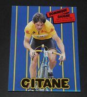 CPA CARTE POSTALE 1983 CYCLISME DOMINIQUE GAIGNE CYCLES GITANE RENAULT-ELF TOUR