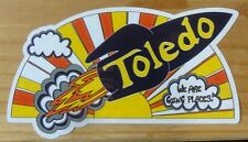 UNIVERSITY OF TOLEDO ROCKETS OHIO CITY BUMPER STICKER WINDOW DECAL GOING PLACES!