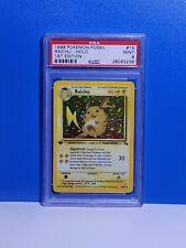 Mint Psa 9 First Edition Raichu 14/62 Holo Pokemon Card Fossil 1st Ed